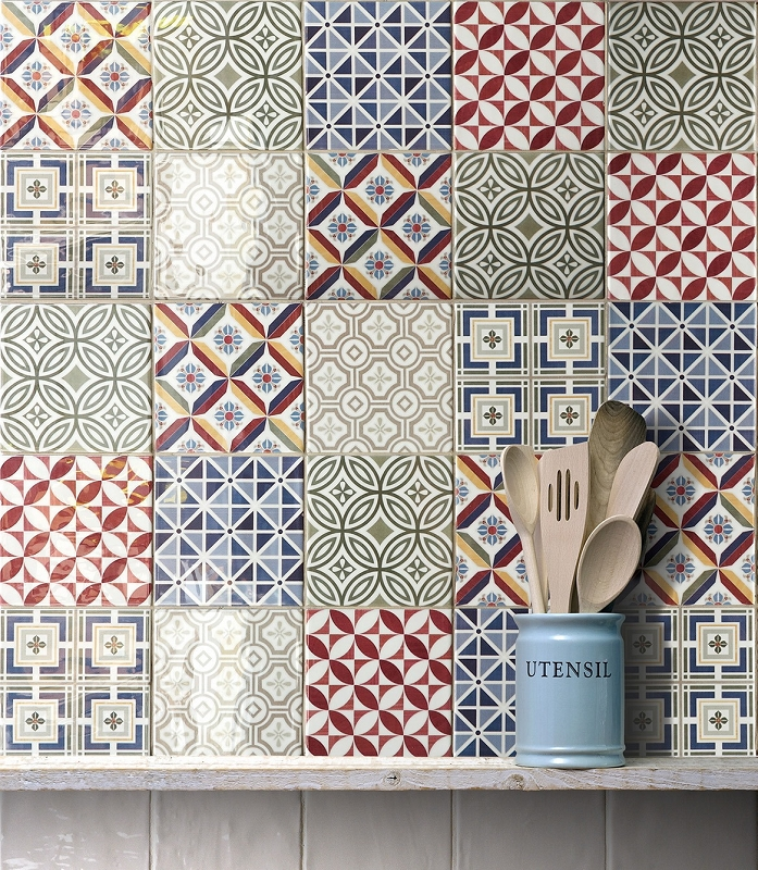 wall tile 5 x5 country patchwork. Black Bedroom Furniture Sets. Home Design Ideas
