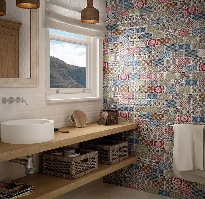 Patchwork Kitchen Wall Tiles: Metro Patchwork 3x6 Multicolored Wall Tiles