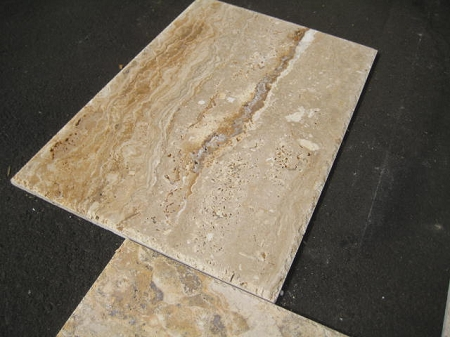 Lugano Onyx Travertine Chiseled Edge Versailles Pattern Tile
