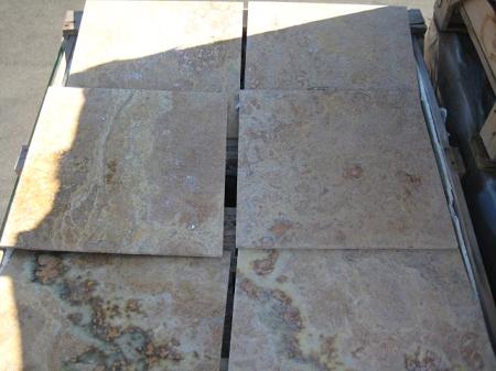 Golden Sienna Multi 18x18 Travertine Tile Clearance Item