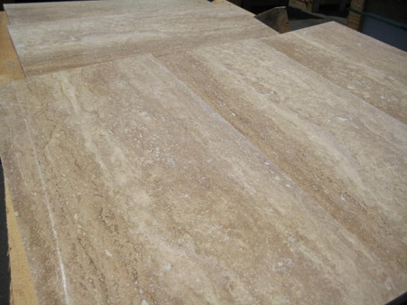 how to cut curves in travertine tile