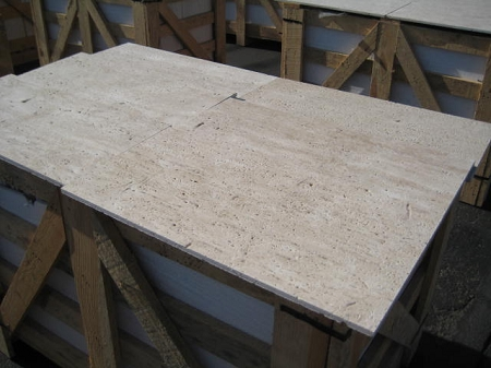 Ivoria Vein Cut Straight Edge 12x24 Travertine Tile