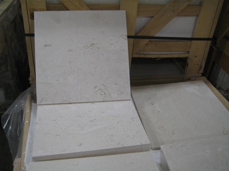 Lycian White Honed Straight Edge 18x18 Limestone