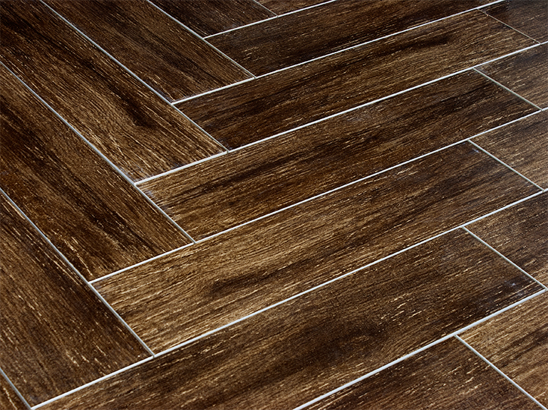 Prestige walnut 6x24 wood plank porcelain tile Wood pattern tile