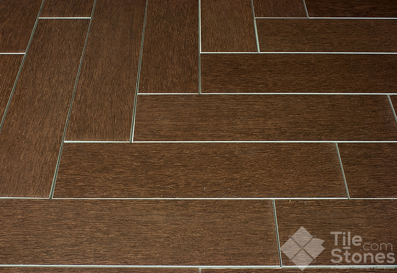 Mahogany 6x24 wood plank porcelain Wood pattern tile
