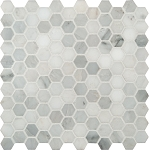 "Arabescato Carrara 1"" Hexagon 