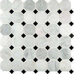 "Arabescato Carrara Octagon 2"" Backspalsh"
