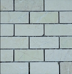 Beige Travertine Mosaic | 2x4 | Tumbled