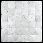 3D Carrara White 2x2 Beveled, Polished Marble Mosaic