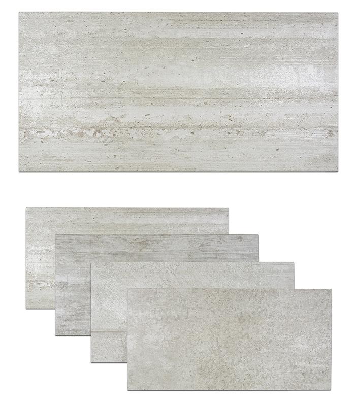 Porcelain Tile Concrete Look Matt 12x24 Coffrage Gris
