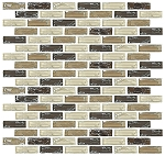Glass Mosaic | Oatmeal Cooke Brick Crackled | GC4003