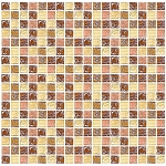 Glass Mosaic | Peach Cobbler Mini Crackled | GC5004
