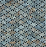 Stone Mosaic | Golden Green Rhomboid | 1x2 | Tumbled