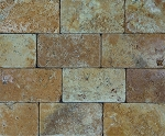 Golden Sienna Travertine Mosaic | 3x6