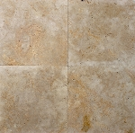 Golden Sunset Travertine Paver | 3cm | 24x24 | Tumbled