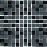 Glass & Stone Mosaic | Black and Grey | GS1008