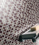 Glass & Stone Mosaic | Medium Mauve | GS1001