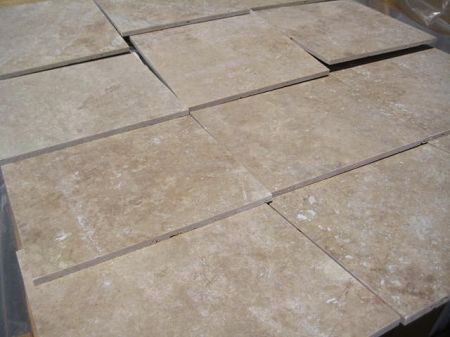 Hazelnut Travertine Filled 12x12 Honed