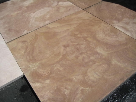 Sedona Honed Sandstone Travertine Straight Edge 18x18