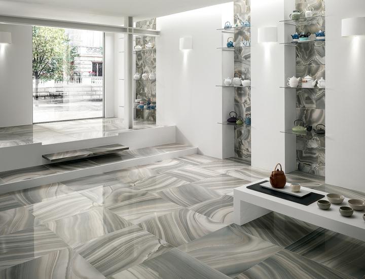 Polished Porcelain Tile 24x24 Astra Turchese Onyx