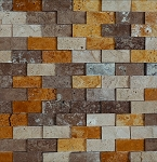 Mix 3D Brick Stone TIle Mosaic | 1x2
