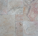 "Multi Rose Travertine | 1 1/4""/3.2cm 