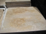Golden Rustic Travertine | 18x18 | Filled | Honed