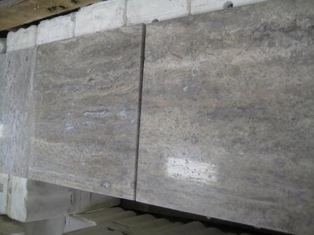 Silver Vein Cut Polishe Filled Travertine