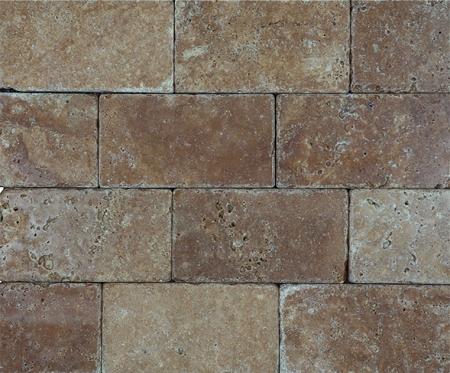 Noce Premium Brick Travertine 3x6