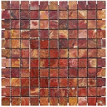 Red Onyx Mosaic | 1x1 | Polished