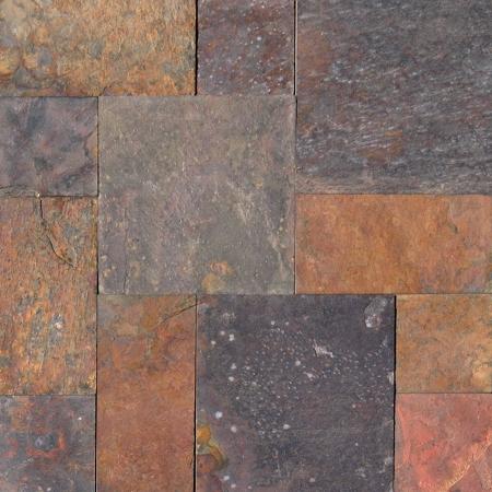 Multi classic slate versailles pattern gauged for Slate floor patterns