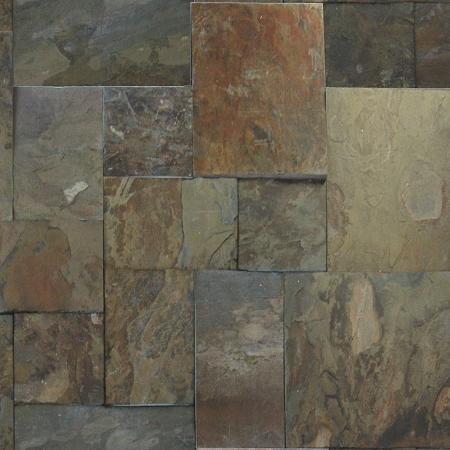 Gauged Versailles Pattern Rustic Gold Slate