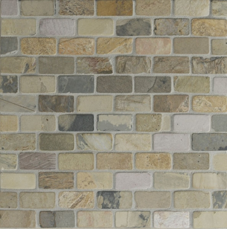Autumn Mist Slate Mosaic 1x2 Tumbled
