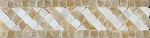 Giallo Crystal Onyx | Tebe Border | 2 x 8 | Polished