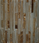 Glass Mosaic | Pelican Sand Bamboo