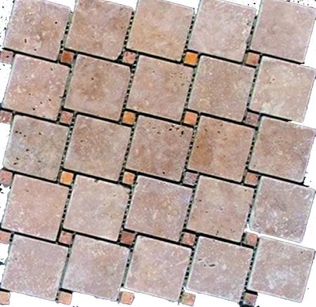Tic Tac Light Stone Tile Mosaic