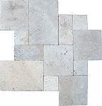 Tuscany Beige Travertine | Versailles Pattern | Chiseled | Brushed | Unfilled