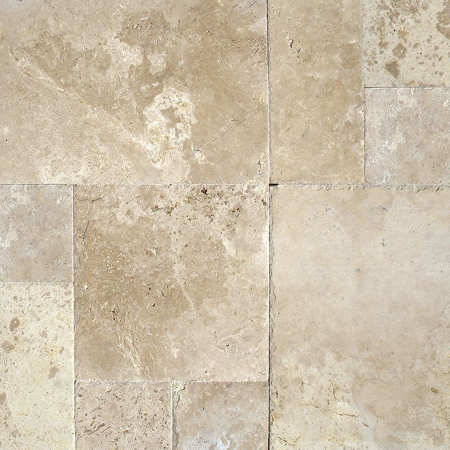 Tuscany storm travertine versailles pattern tiles for Tuscan flooring