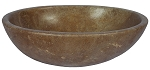 "Travertine Oval Noce 15""x20"""