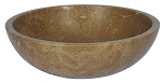 "Travertine Round Noce16"" Sink"