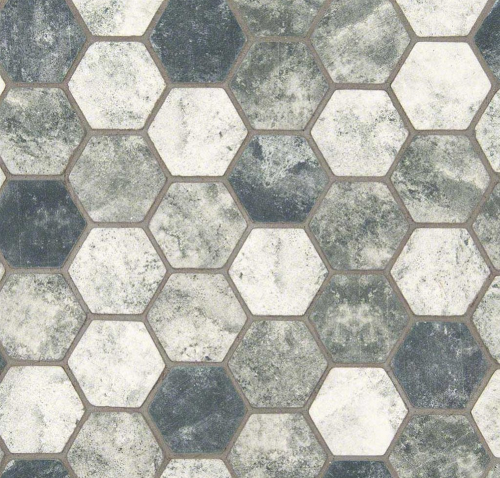 Urban Tapestry Hexagon Mosaic Tile