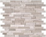 White Quarry Splitface Backsplash