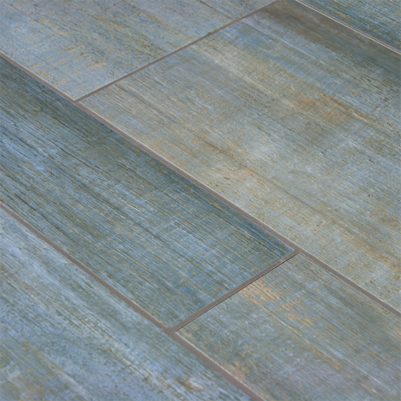 Barrique Series Blue Wood Plank Porcelain Tile