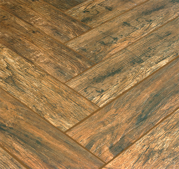 Wood Plank Porcelain 6x36 Redwood Mahogany Porcelain Tile