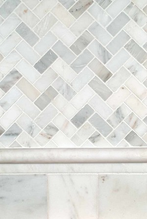 3x6 Marble Subway Tile Backsplash