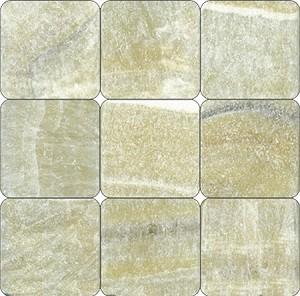 Giallo Crystal Onyx 4x4 Tumbled