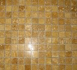 Sienna Gold Travertine Mosaic | Polished