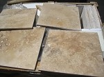 Golden Rustic Travertine | 16X16 | Filled | Honed