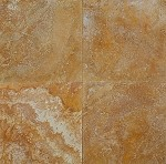Golden Sienna Travertine | 12X12 | 18x18 | Filled | Honed