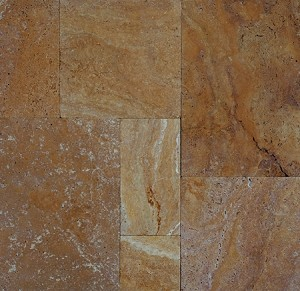 "Sienna Gold Travertine | 1 3/16""/3cm 